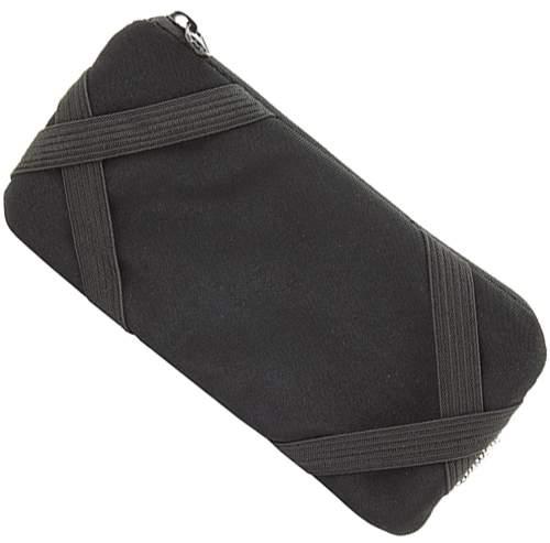 Obal na mobil s uzavíratelnou kapsičkou, černá