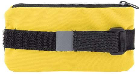 Obal na mobil s uzavíratelnou kapsičkou, žlutá
