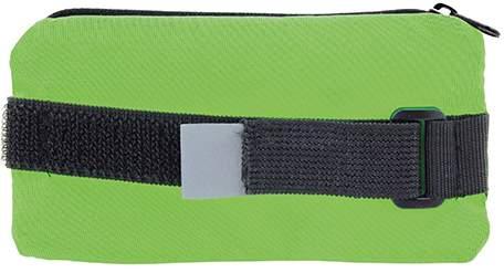 Obal na mobil s uzavíratelnou kapsičkou, světle zelená