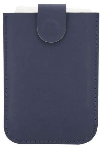 Pouzdro na karty se systémem pro snadné vyjmutí a ochranou RFID, námořnická modrá