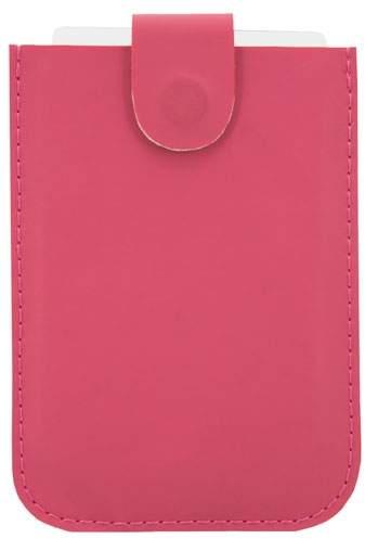 Pouzdro na karty se systémem pro snadné vyjmutí a ochranou RFID, růžová