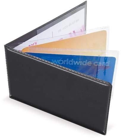 Horizontální pouzdro na 6 karet, černá