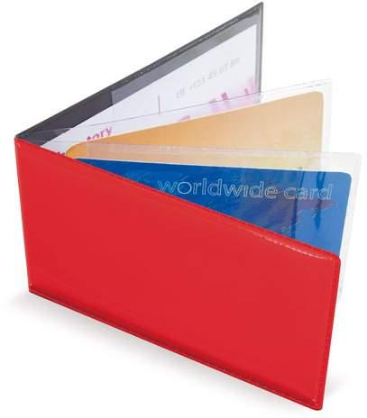 Horizontální pouzdro na 6 karet, červená