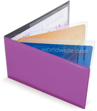 Horizontální pouzdro na 6 karet, fialová