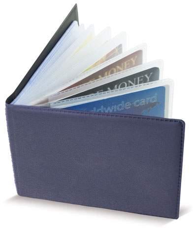 Horizontální pouzdro na 40 karet, námořnická modrá