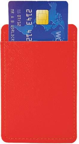 Pouzdro na karty, červená