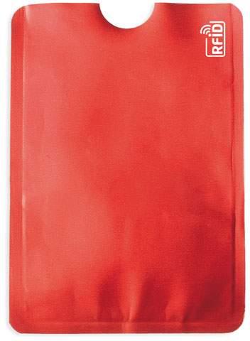 Pouzdro na karty s ochranou RFID, červená