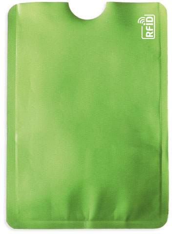 Pouzdro na karty s ochranou RFID, zelená