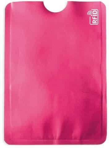Pouzdro na karty s ochranou RFID, růžová