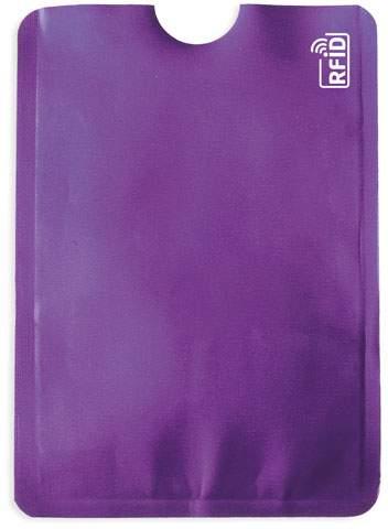 Pouzdro na karty s ochranou RFID, fialová