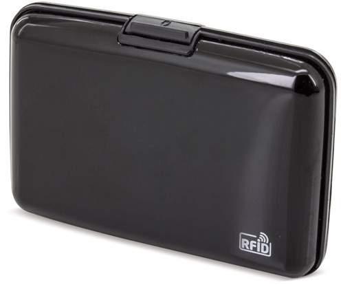 Pouzdro na karty s ochranou RFID, černá