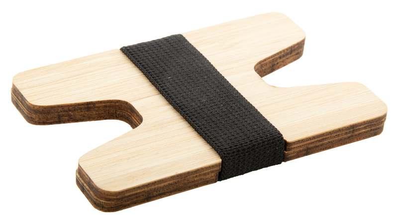 Bambusový držák na karty Wolly