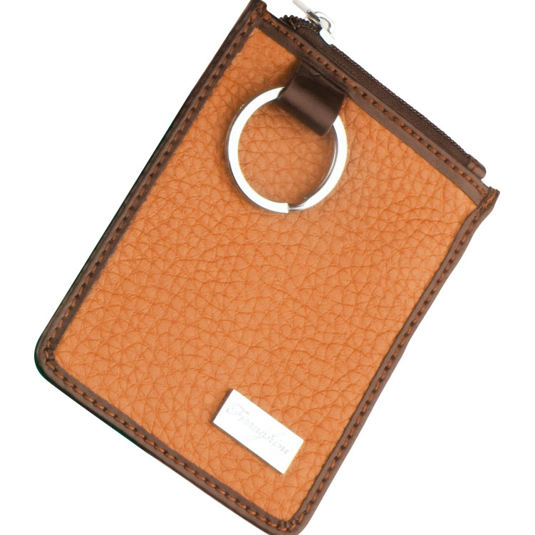 Oranžová klíčenka na zip