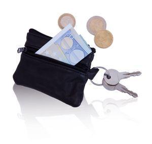 Černá klíčenka s peněženkou