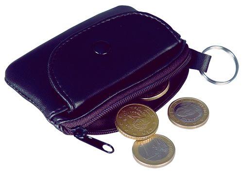 Klíčenka s peněženkou černá s potiskem