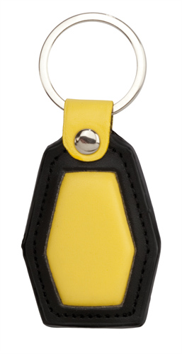 Velox žlutá klíčenka s potiskem