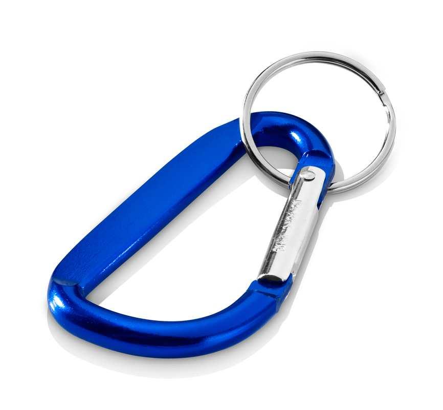Modrá klíčenka karabina