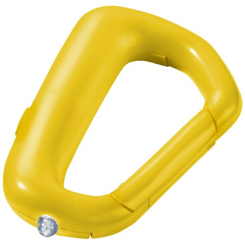Žlutý karabinka na klíče Proxima se svítilnou