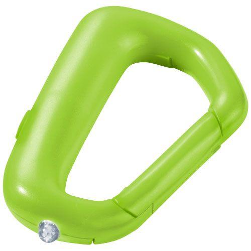 Zelená karabinka na klíče Proxima se svítilnou