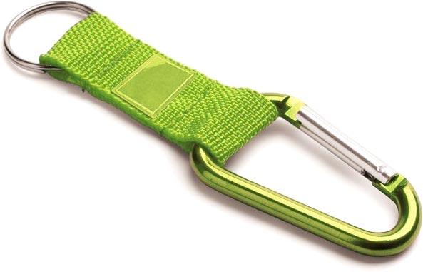 Přívěšek na klíče světle zelený