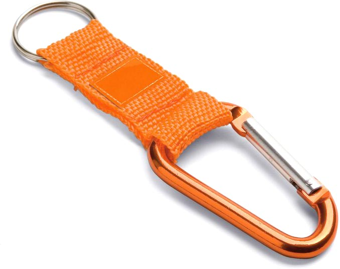 Přívěšek na klíče oranžový