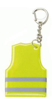 Přívěsek na klíče s mini reflexní vestou