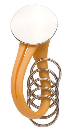 Knot oranžový přívěsek na klíče