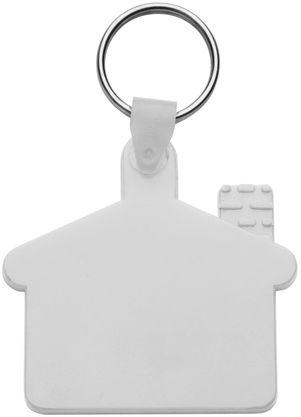 Cottage bílý přívěsek na klíče