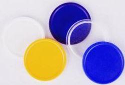 Transparentní modrý žeton 5 nebo 10