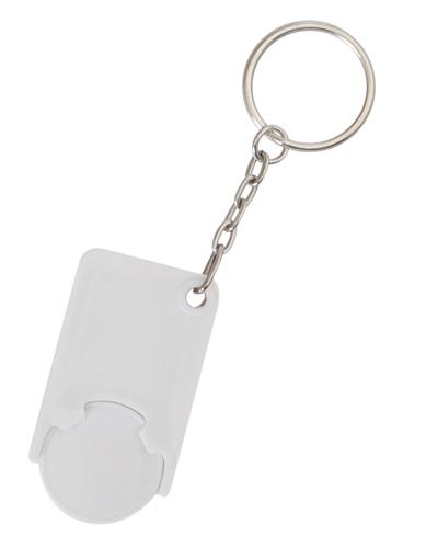 Beka bílá klíčenka na mince