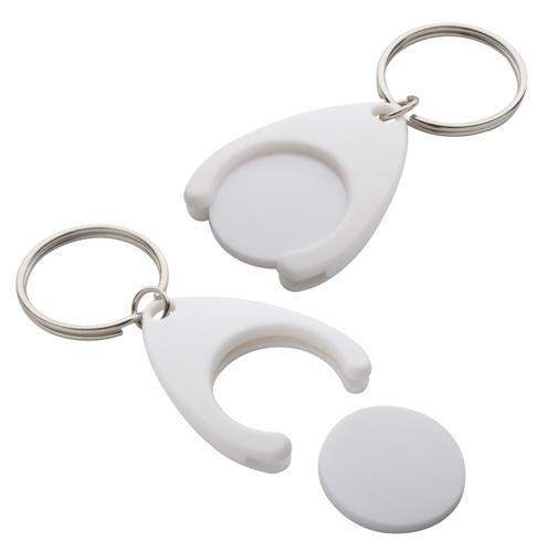 Nelly bílá klíčenka s mincí
