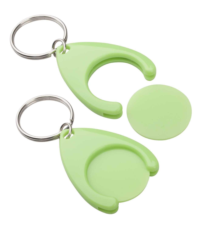 Nelly zelená klíčenka s mincí