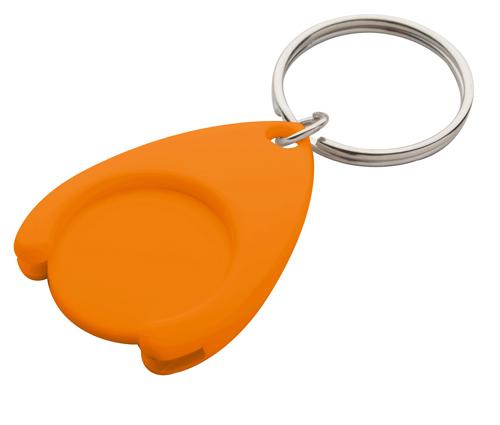 Nelly oranžová klíčenka s mincí