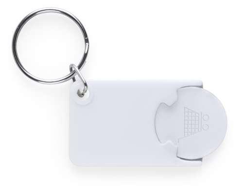 Zabax přívěsek na klíče s bílým žetonem