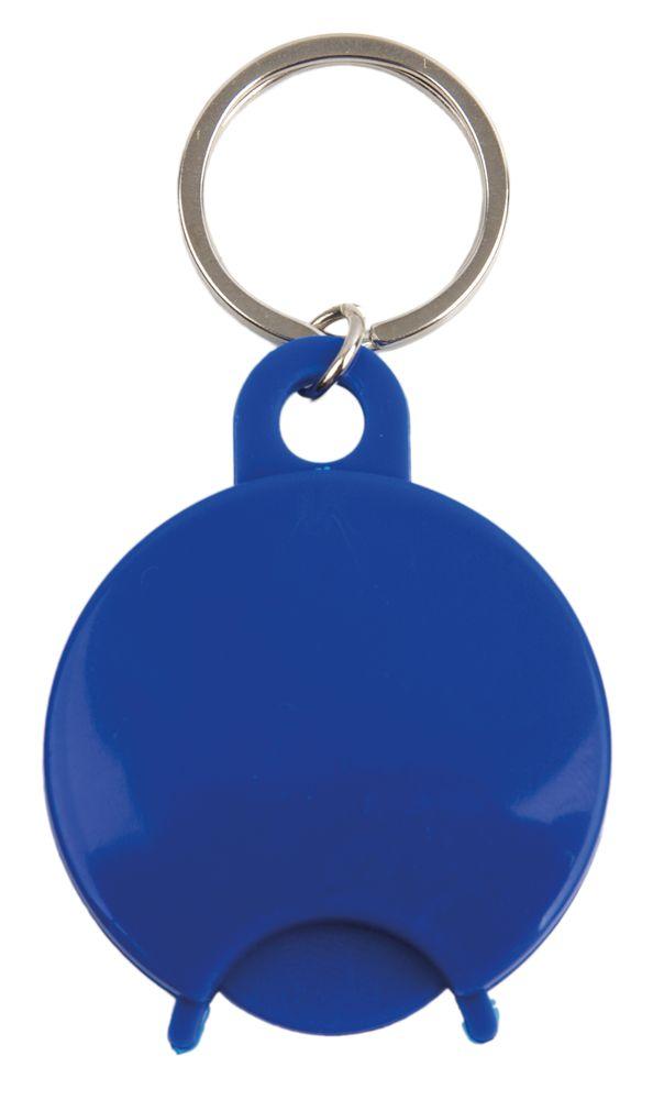 Přívěšek na klíče s žetonem modrý