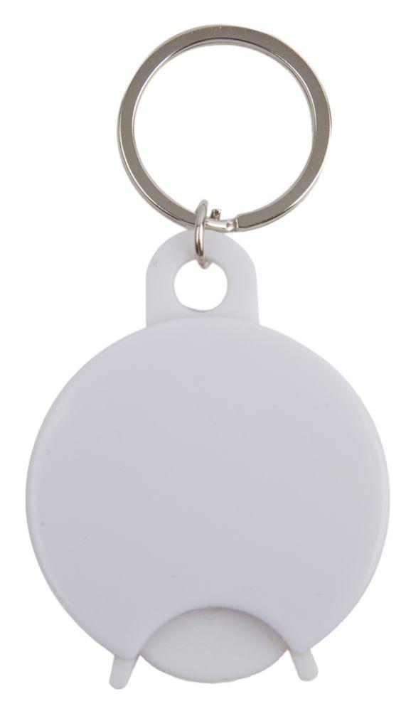 Přívěšek na klíče s žetonem bílý