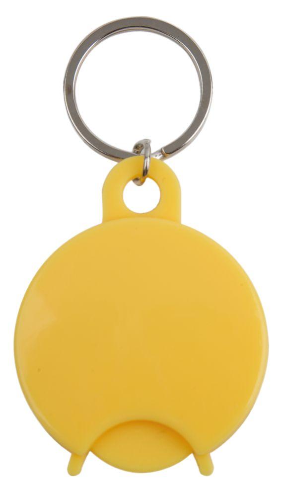 Přívěšek na klíče s žetonem žlutý