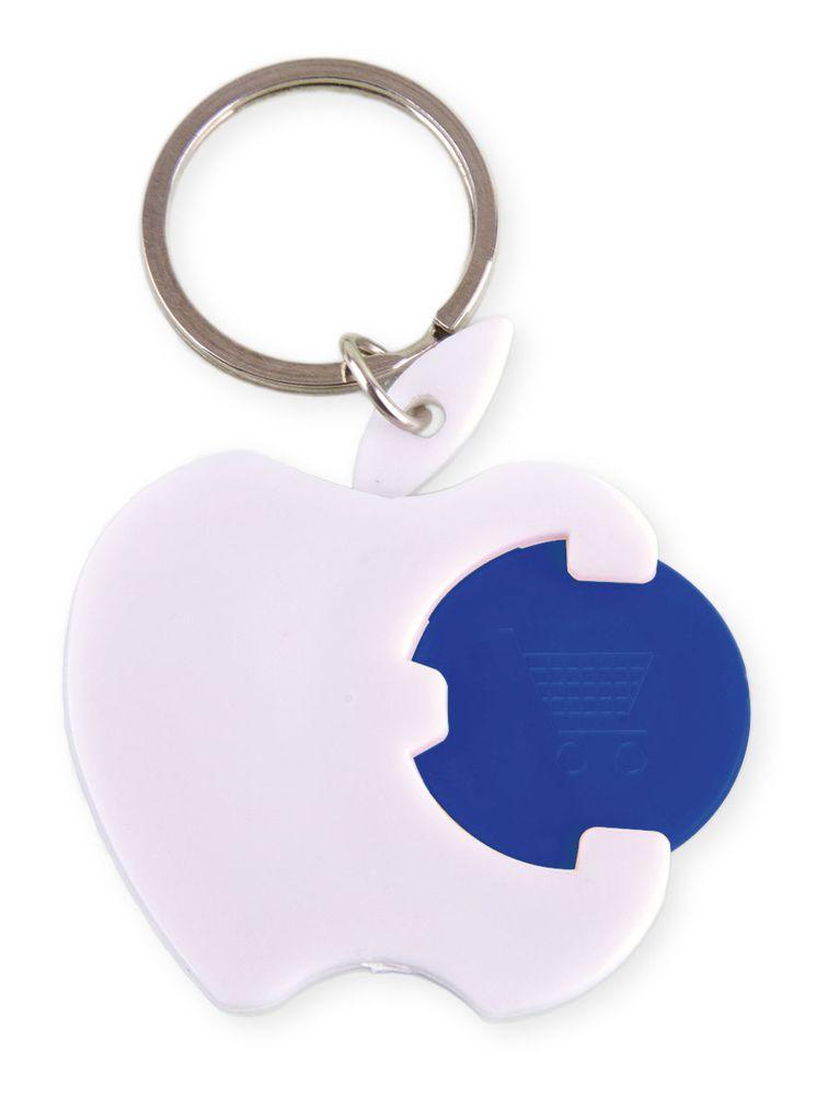 Přívěšek na klíče-jablko s žetonem modrým