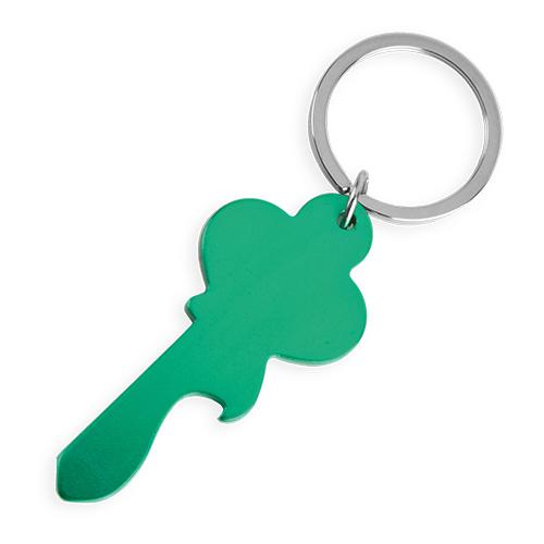 Klíčenka ve tvaru klíče zelená