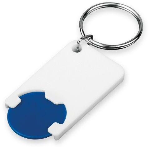 CHIPSY plastový přívěsek - žeton vel. 1 €/ 5 Kč, tmavě modrá