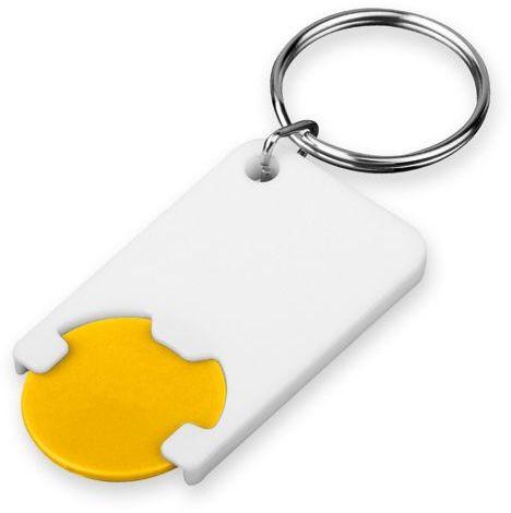 CHIPSY plastový přívěsek - žeton vel. 1 €/ 5 Kč, žlutá