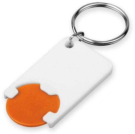 CHIPSY plastový přívěsek - žeton vel. 1 €/ 5 Kč, oranžová