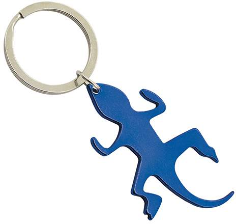 Klíčenka - ještěrka, modrá