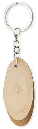Klíčenka s dřevěným plátkem