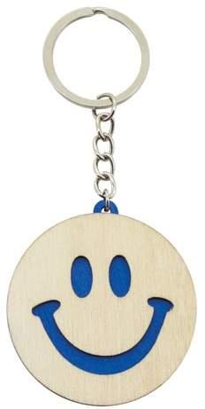 Klíčenka - smajlík, modrá