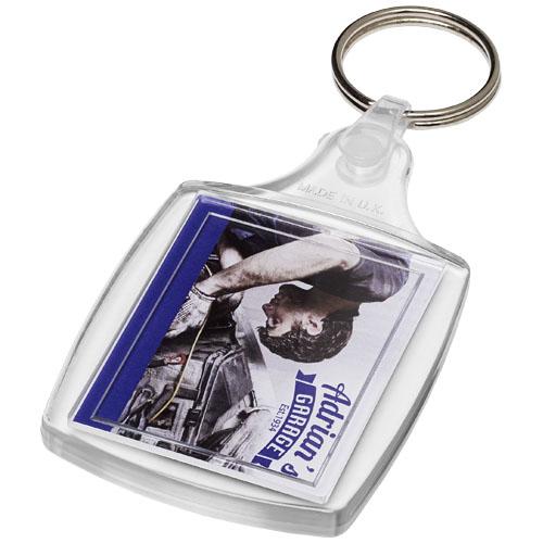 Klasická plastová klíčenka s plastovou sponou Zia