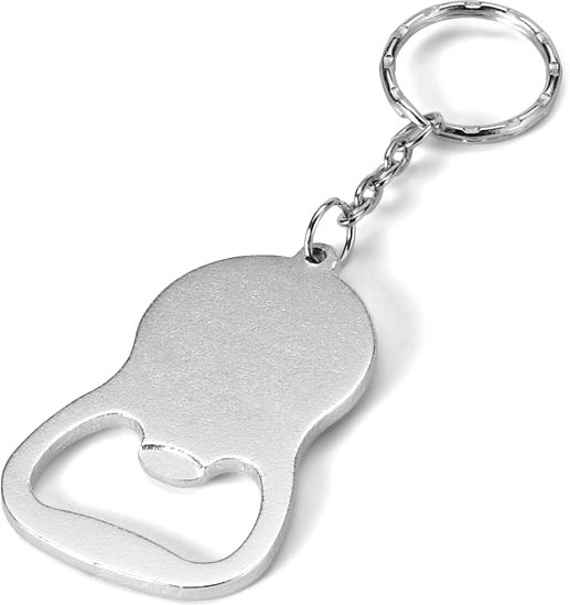 Přívěšek na klíče matně stříbrný