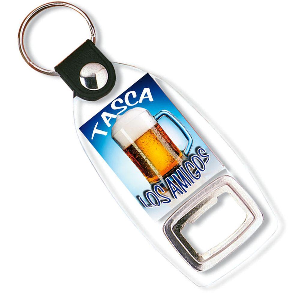 Přívěšek na klíče s otvírákem transparentní