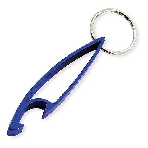 Klíčenka s otvírákem modrá s potiskem