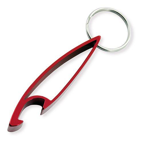 Klíčenka s otvírákem červená